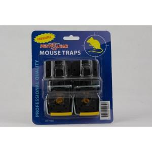 Παγίδα για στιγμιαία θανάτωση ποντικιών Pest Clear με δόλωμα – σετ 2 τεμ..