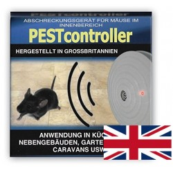 Pest controller συσκευή υπερήχων κατά των ποντικιών για 92 τ.μ. - τροφοδοτείται με αλκαλική μπαταρία 9V