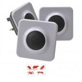 """Υπερηχητική ηλεκτρονική συσκευή """"SLIMLINE 1000"""" (ηλεκτρονική γάτα) για τρωκτικά και έρποντα έντομα για 93 τετραγωνικά μέτρα περίπου - 1 δωμάτιο, 3  τεμ."""