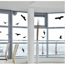 Αυτοκόλλητες ετικέτες για προστασία παραθύρων / γυαλιών από σύγκρουση με πτηνά - 5 τμχ.