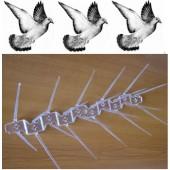 Αιχμές από πολυανθρακικό κατά των πτηνών (34 εκατοστά) - 1 μέτρο