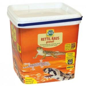 Rettil Raus κόκκοι για ΦΙΔΙΑ, ΣΑΥΡΕΣ, ΓΚΕΚΟ και άλλα ερπετά - 4000 ml .